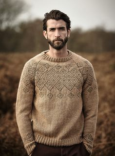 Shire pattern by Lisa Richardson, from A/W 2015 pattern booklet for Rowan Hemp Tweed. Available July 2015.
