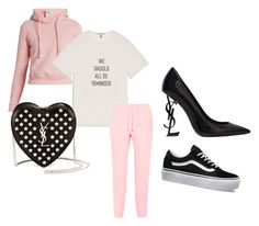 """""""F E M I N I S T"""" by itsindiaross on Polyvore featuring Vetements, Yves Saint Laurent and Vans"""