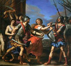Hersilia Separating Romulus and Tatius - Guercino