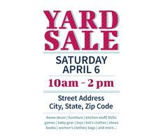 Download This Yard Sale Flyer Template And Other Free Printables From  MyScrapNook.com