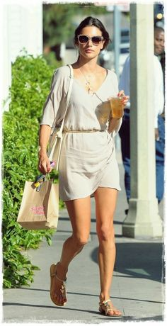 #Alessandra #Ambrosio #Street #Style Snapshot - Cooled off with a Refreshing Iced Tea