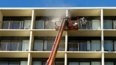 Power Washing the Best Western Plus Oceanfront in Virginia Beach. Pressure washing 166 balcony's using an 80' lift.