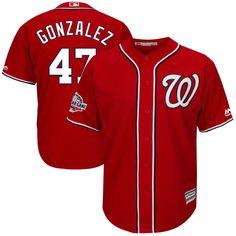 Gio Gonzalez Washington Nationals Majestic 2018 All-Star Game Alternate  Cool Base Player Jersey – Scarlet 9de736380