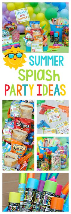 School's Out Party for Kids-Great party to throw to celebrate summer break with the kids. A fun kids summer party for kids of any age! Water party ideas with great games and food. Water Birthday Parties, Birthday Party At Park, Outdoor Birthday, Summer Birthday, Summer Parties, Summer Kids, Birthday Party Themes, Kids Water Party, Birthday Ideas