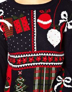 Image  Of Asos Vintage Look Holiday Sweater Holiday Sweater Christmas Sweaters Traditions To