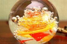 Glass paperweight stained glass globe glassware by PoshCraftPoland