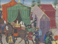 Tent Camping, Camping Gear, Medieval Horse, Moving And Storage, Mish Mash, Bnf, 14th Century, Casket, Middle Ages