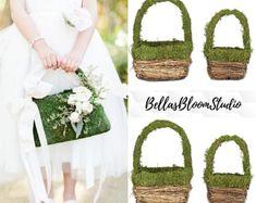 Flower girl basket - BellasBloomStudio Wedding Arch Rustic, Garland Wedding, Cheap Flowers, Small Flowers, Cheap Wedding Decorations, Wedding Ideas, Diy Wedding, Flower Girl Basket, Flower Girls