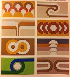 1974 Supergraphic System – Hepcats Haven Retro Interior Design, Retro Design, Interior Paint, Deco Studio, 70s Home Decor, 1970s Decor, Motif Vintage, Wall Design, Decoration