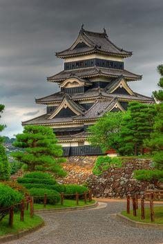 Matsumoto Castle, also known as Crow Castle in Matsumoto, Nagano, Japan.
