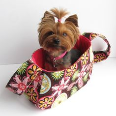 DIY Doggie Carrier-So Cute!! (makes me want a little dog.  Mine is Too Big)!
