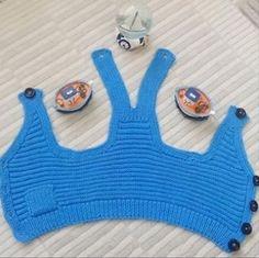 ÖRGÜ DESENİ TARİFLERİ VE 50 TANE İLHAM VEREN MODEL | Nazarca.com Baby Knitting Patterns, Knitting Designs, Crochet Baby, Crochet Bikini, Knitted Baby, My New Haircut, Knit Baby Dress, Moda Emo, Crochet Slippers