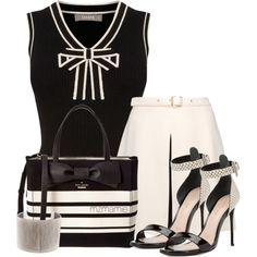A fashion look from August 2016 featuring oasis shirt, short white skirt and black patent leather sandals. Browse and shop related looks. White Fashion, Work Fashion, Fashion Looks, Classy Outfits, Cute Outfits, Corporate Wear, Workwear Fashion, Professional Outfits, Bikini Fashion