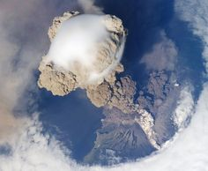 Vulcano erupting from space, sweet.