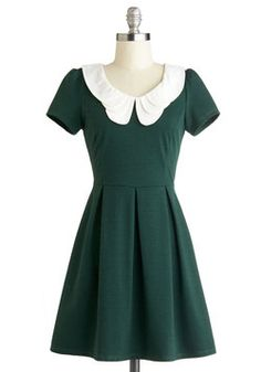 Looking to Tomorrow Dress in Evergreen. You're always one to keep your outlook rosy and your countenance cheery, so it's no surprise that your buoyant attitude translates to your zesty sense of fashion. #green #modcloth
