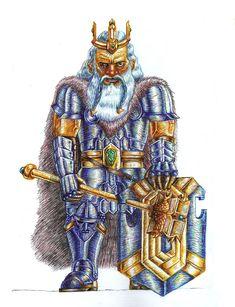 "Echa un vistazo a mi proyecto @Behance: ""Dwilmir. king dwarf"" https://www.behance.net/gallery/67383411/Dwilmir-king-dwarf"