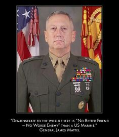 General James Mattis Print Donald Trump Secretary of Defense US Marines Once A Marine, My Marine, Marine Corps, Military Memes, Military Life, Military Box, Military Soldier, Army Veteran, Military Weapons