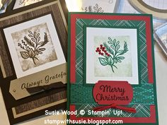 Christmas Words, Diy Christmas Cards, Stampin Up Christmas, Fall Cards, Xmas Cards, Christmas Ideas, Wink Of Stella, Looks Black, Stamping Up Cards