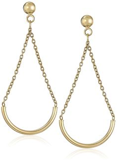14k Yellow Gold Teardrop Dangle Earrings *** Visit the image link more details. (This is an affiliate link and I receive a commission for the sales)
