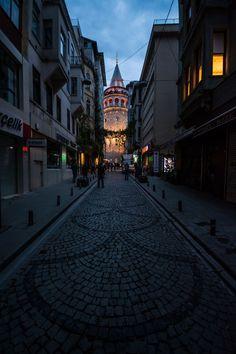 Galata Tower - Shot of Galata Tower - Istanbul . - Galata Tower - Shot of Galata Tower - Istanbul . Istanbul City, Istanbul Travel, Aqua Wallpaper, Blue Wallpapers, Night Aesthetic, City Aesthetic, Permanent Vacation, Most Beautiful Wallpaper, Turkey Travel