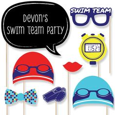 Making Waves Swim Team Photo Booth Props Photobooth Kit