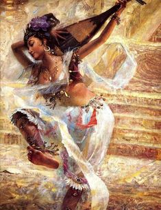 """"""" Dancer"""" by: Chinese Oil Painting Master: Tu Zhiwei"""