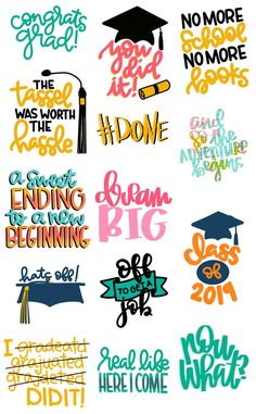 Graduation mini cut file bundle – A Girl And A Glue Gun Graduation Cookies, Graduation Shirts, Kindergarten Graduation, High School Graduation, Graduation Cards, Graduation Ideas, Graduation Decorations, Window Markers, Congratulations Graduate