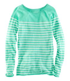 H & M long sleeve striped top--That Color! Oh my!!