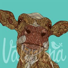 The vivid animal drawings by Miami, Florida based artist Valentina Harper (formerly Valentina Ramos). Valentina loves to use different materials, mixed Framed Art, Framed Prints, Art Prints, Wall Art, Illustrations, Illustration Art, Pigeon, Cow Decor, Cow Art
