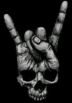 New skull finger, dark skull. Totenkopf Tattoos, Kunst Tattoos, Tattoo Drawings, Art Drawings, Art Tattoos, Tattoo Crane, Skull Artwork, Tatoo, Skull Art