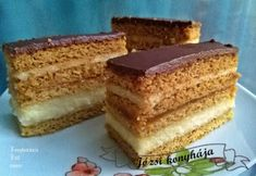 Receptek, és hasznos cikkek oldala: Mézes grízes krémes Hungarian Recipes, Hungarian Food, Vanilla Cake, Fudge, Tiramisu, Favorite Recipes, Sweets, Meals, Ethnic Recipes