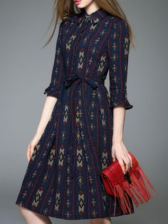 StyleWe $76 Printed Cotton-blend Midi Dress