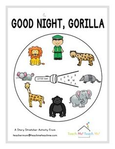 "This product contains several story stretchers for the popular children's book ""Good Night, Gorilla"".  The main focus is a Letter Hunt activity that features clip art from the very talented Laura Strickland at Whimsy Clips. Great for Letter of the Week Curricula."