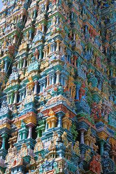 Indian Temple Fractals Sri Meenakshi Amman Temple [Tamil Nadu] – Paul Prudence