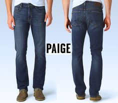 NWT $189 PAIGE NORMANDIE THE SLIM STRAIGHT SMITH JEANS. MADE IN USA.SZ 30 X 34 #PaigeDenim #ClassicStraightLeg