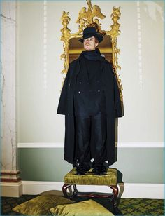 Donning Bottega Veneta, Alfie Allen stars in a photo shoot for L'Uomo Vogue.