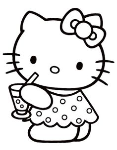 Welcome in hello kitty coloring in pages site. In this site you will find a lot of hello kitty coloring in pages in many kind of pictures. All of it in this site is free, so you can print them as many as you like. Summer Coloring Pages, Cute Coloring Pages, Cartoon Coloring Pages, Coloring Pages To Print, Printable Coloring Pages, Coloring Sheets, Coloring Books, Free Coloring, Kids Colouring