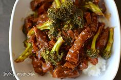 Crockpot Beef and Broccoli - this makes the beef so tender that it melts in your mouth!