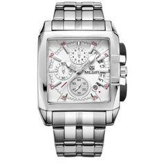Luxury Men Watch Full Steel Band Date Quartz Watches Business