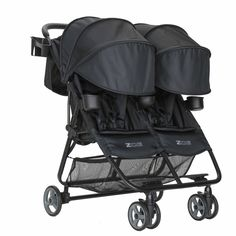 At 16lbs, the ZOE XL2 Double Stroller weighs less than most SINGLE lightweight strollers! It folds super fast and fits into a backpack!