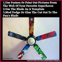 Super Hero Ceiling Fan Blades ~ Buy It Or DIY It