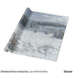 Sold. #Christmas #frozen #landscape #wrappingpaper available in different products. Check more at www.zazzle.com/celebrationideas