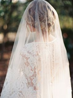 a magical interplay of lace and tulle | via: once wed
