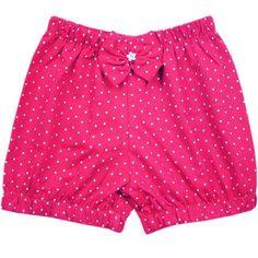 Short Balonê Para Bebê Menina Vermelho Poá Casual Shorts, Trunks, Short Dresses, Swimwear, Clothes, Women, Facebook, Fashion, Baby Layette