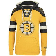 fa94611fb Reebok Boston Bruins CCM Pullover Hoodie - Gold