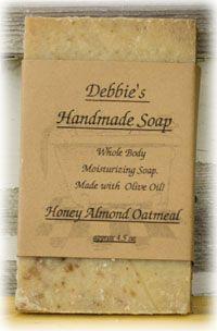 Honey Almond Oatmeal |Buy Handmade Soap Online | Debbies Handmade Soap