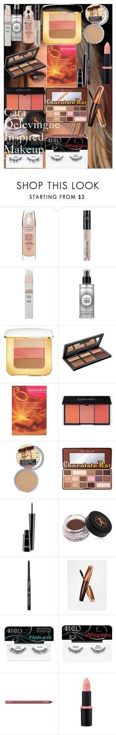 """""""Cara Delevingne Inspired Makeup Tutorial"""" by oroartye-1 on Polyvore featuring beauty, Maybelline, L'Oréal Paris, Smashbox, Tom Ford, Kat Von D, Bourjois, Too Faced Cosmetics, MAC Cosmetics and Anastasia Beverly Hills"""