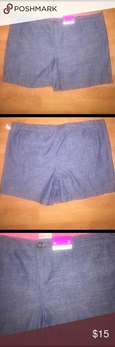 MERONA Size 18 shorts Size 18 MERONA Blue Shorts  Brand New with Tags Merona Shorts