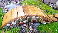 Miniature Garden Fairy, Gnome, Hobbit, Elf, Troll Door. Miniature rock bridge.