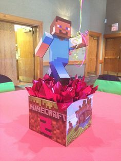 My son absolutely loves Minecraft! I am sure that he would really appreciate having this centerpiece to hold his balloons at his birthday party. If I got this, though, I would just need to find matching Minecraft balloons to go with it. Minecraft Birthday Party, 6th Birthday Parties, 8th Birthday, Birthday Ideas, Minecraft Balloons, Minecraft 1, Unique Centerpieces, Balloon Centerpieces, Pop Toys